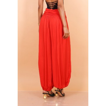 Hareem Pants - Red -One Size