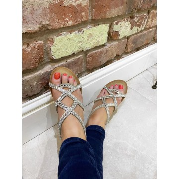 Patrice Comfort Wedges - Silver