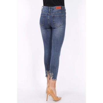 Diamante Bow Denim Jeans
