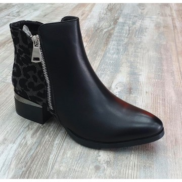 Silver Leopard Back Chelsea Boots