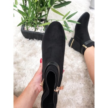 Black Suedette Ankle Boot