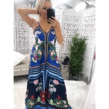 Bali Maxi Dress - Blue Print
