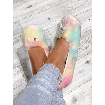 Rainbow Ballet Slippers