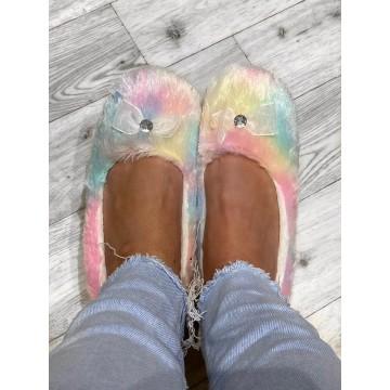 Rainbow Ballet Slippers