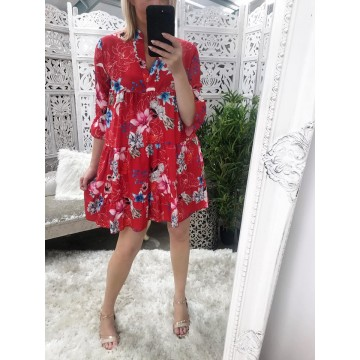 Dolly Dress - Red Floral