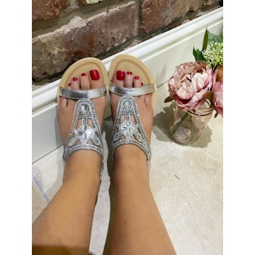 ARIZONA Soft Foam Sandals - Silver
