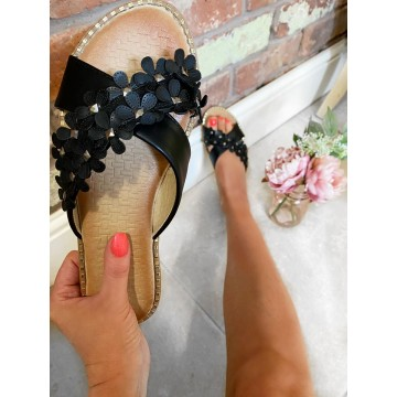 Black Cushioned Flower Slips
