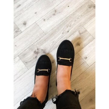 Plain Loafers with Gold Bar - ORDER ONE SIZE UP