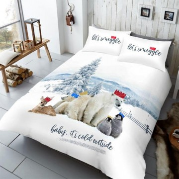 LETS SNUGGLE WINTER CHUMS CHRISTMAS DUVET SET - FROM £20.00