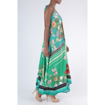 Bali Maxi Dress - Green Print