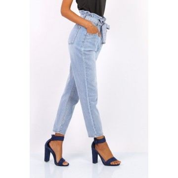Ellie Denim High Waist Paperbag Jeans