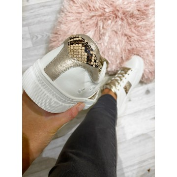 GOLD Bee sparkling trainers