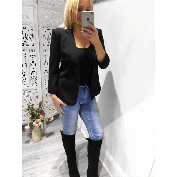 Tailored Blazer - BLACK