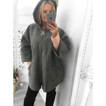 Grey Oversized Hoodie With Pockets