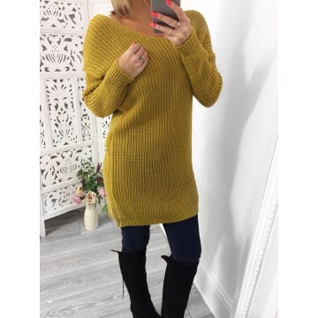 Mustard Reversible Knot Jumper  ONE SIZE 8-14