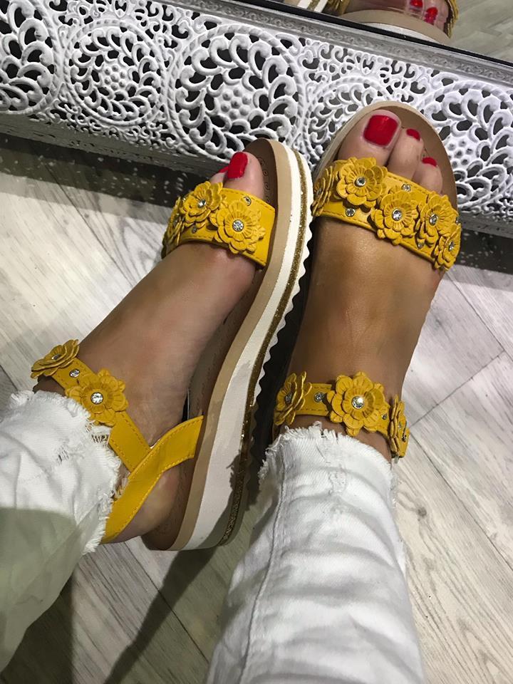 Mustard Flower Foam Sandals