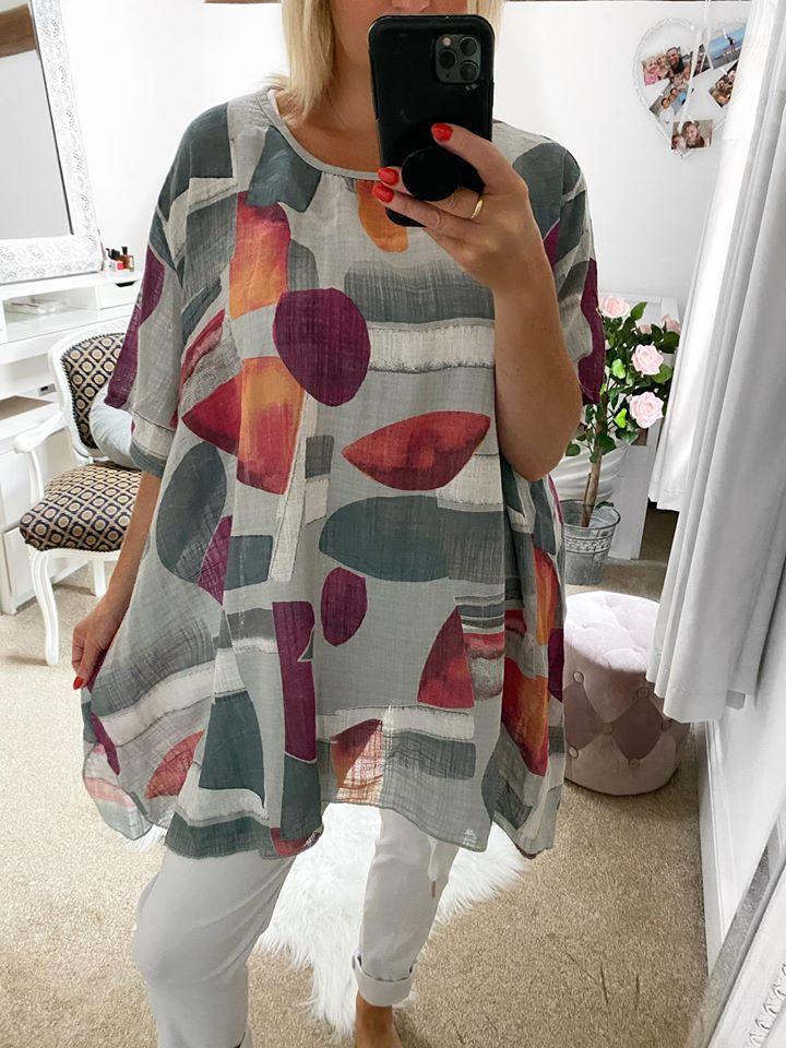 Oversized Multicoloured Tunic