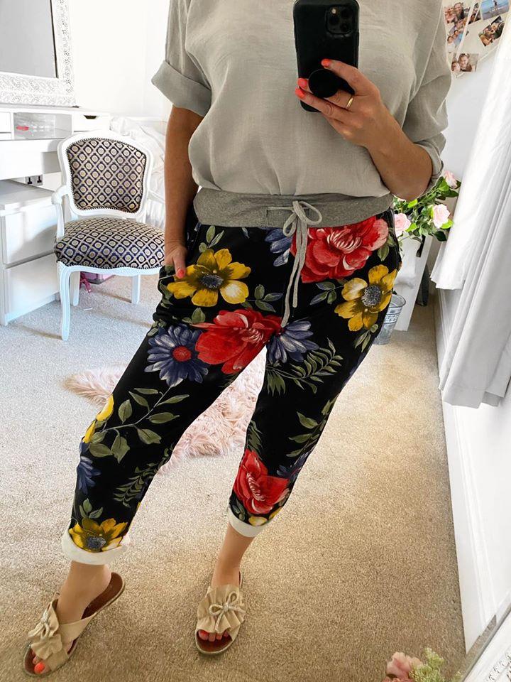 Magic Lounge Pants - Black Floral