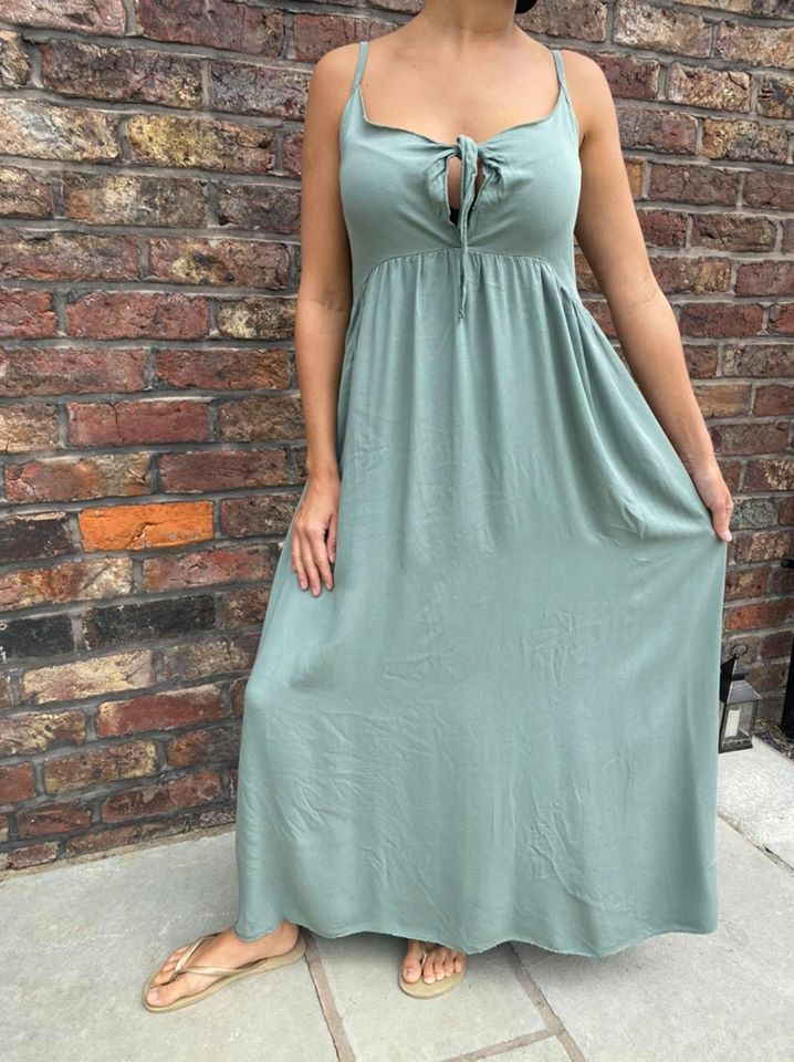 Khaki Maxi Dress - One Size Fits up to size 18