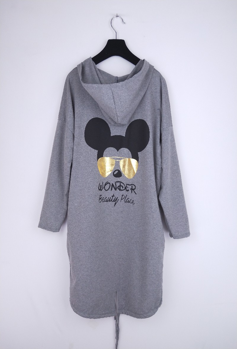 Wonder Beauty Place Hoodie - Grey