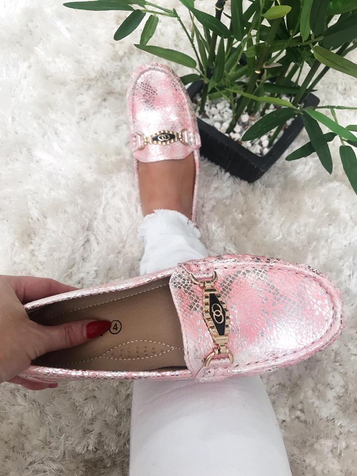 Pink Comfort Snakeskin Loafer