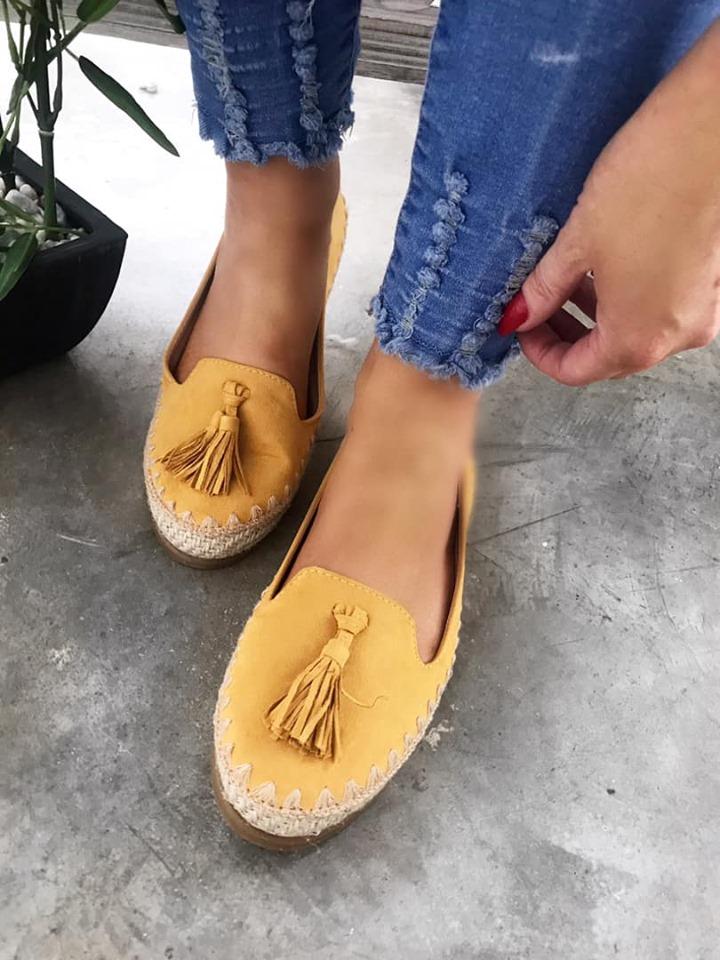 Mustard Tassel Comfort Loafer