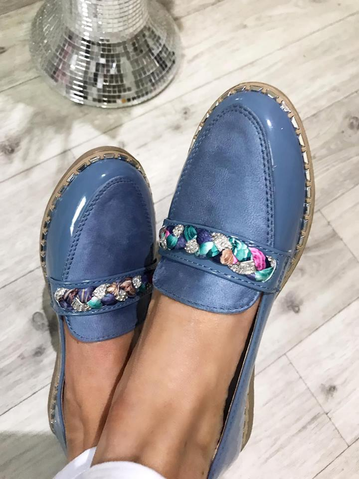 Aria Light Blue Comfort Loafers