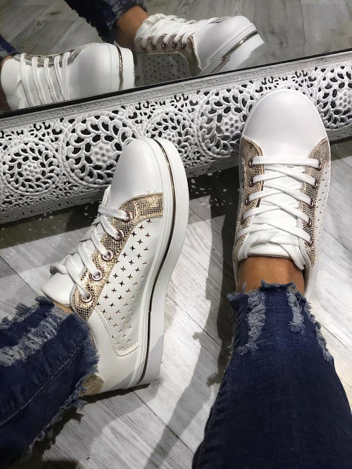 Star Trainers - ROSE GOLD/WHITE  SPECIAL OFFER