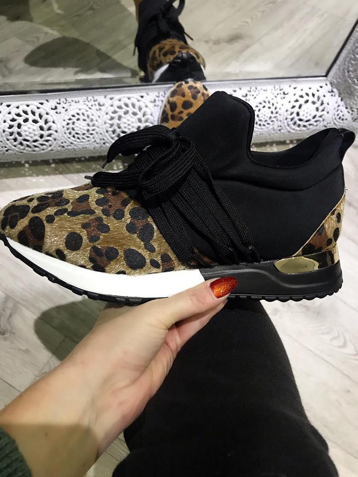 Delamere Leopard Shimmer Trainers