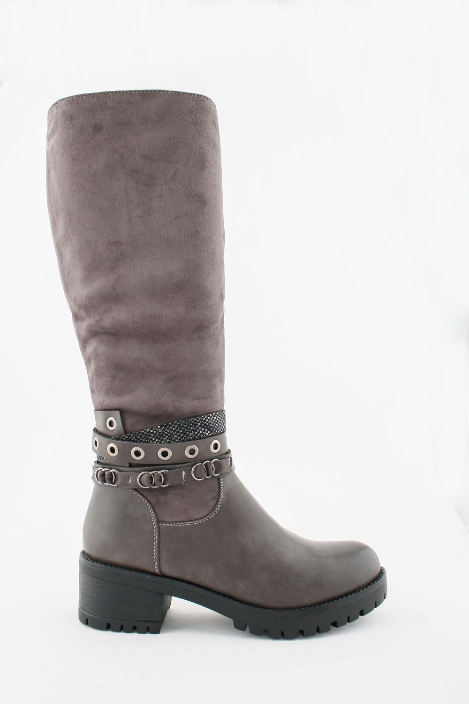 TRINA - Knee High Boots - Grey
