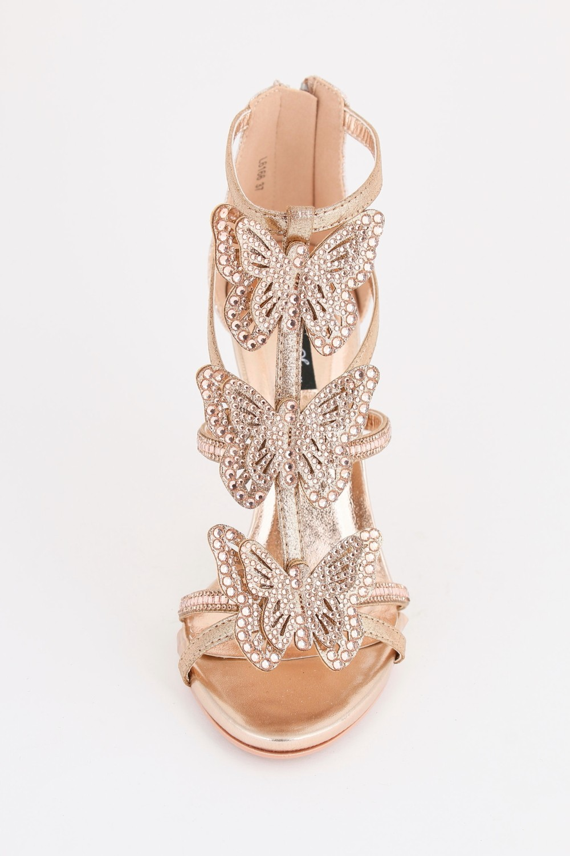 Butterfly Heels - Champagne