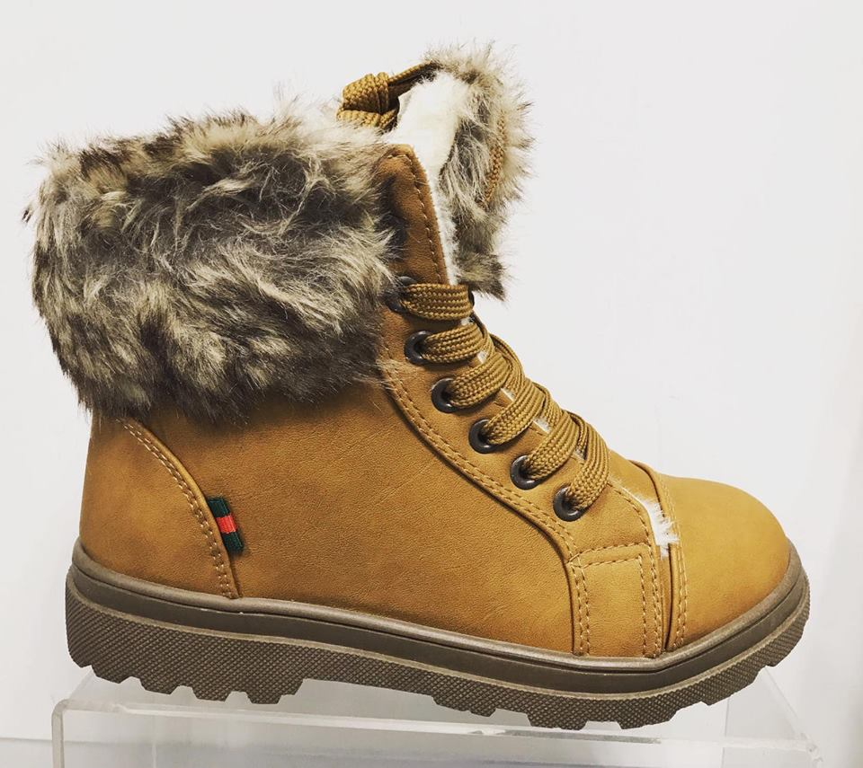 Jackson Ankle Boot - Faux Fur Trim - Camel ORDER ONE SIZE UP