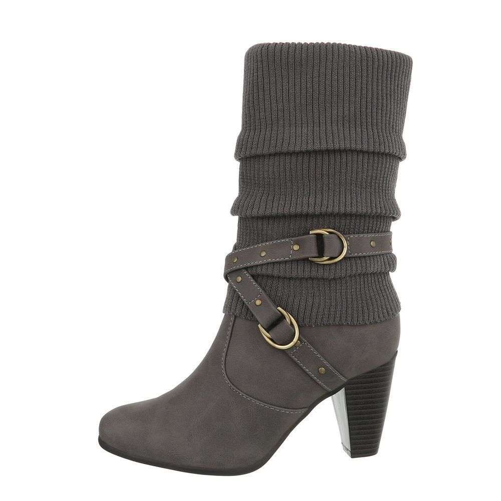 Layered Strap Boot - GREY