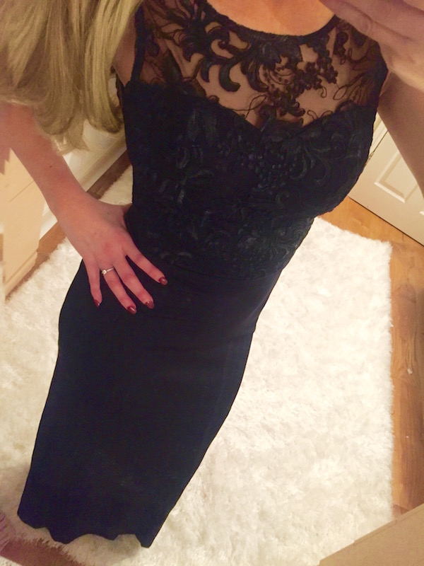 Lace Padded Maxi Dress