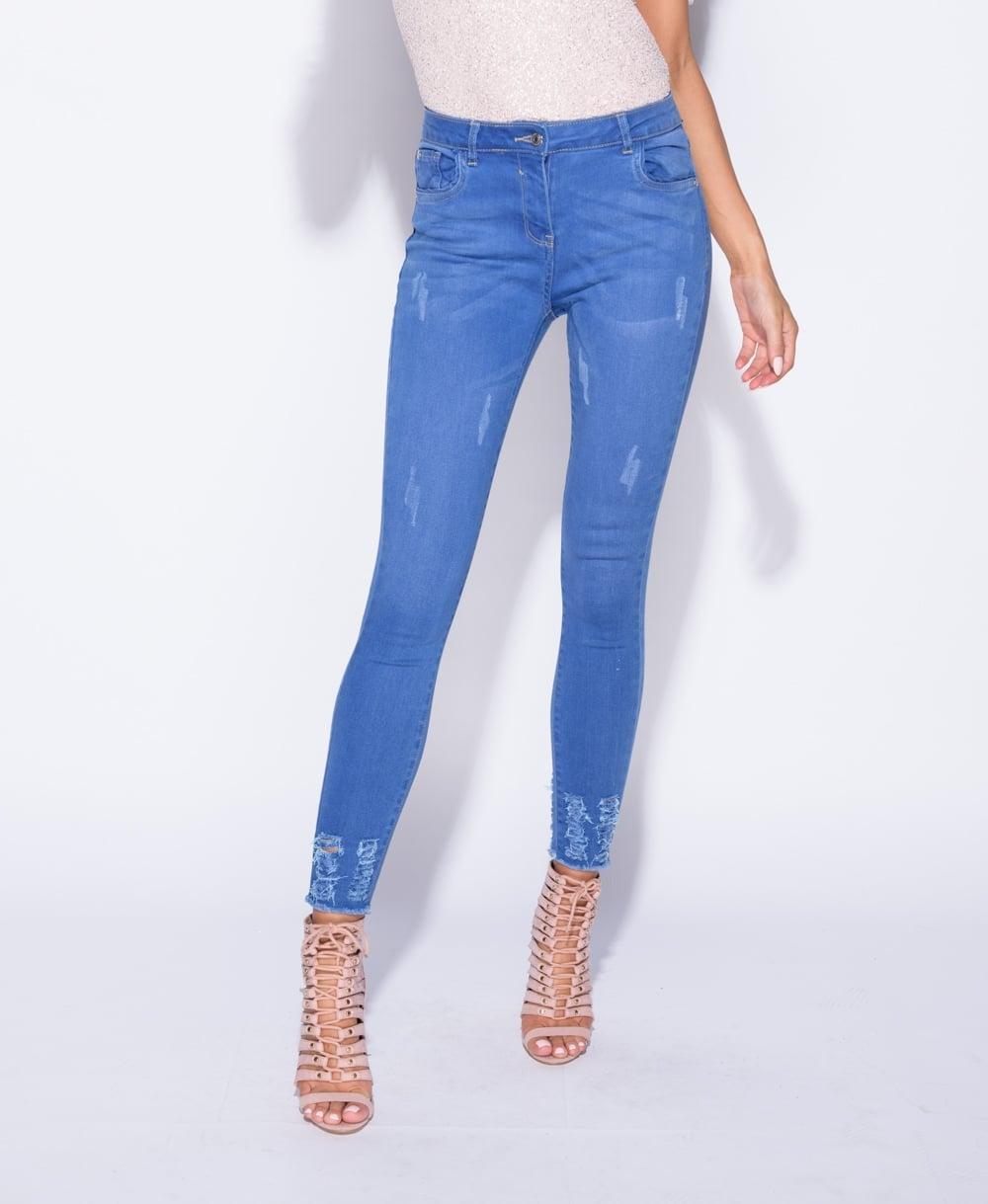 Freyed Hem Jeans