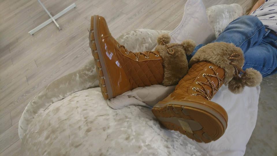 Girls Camel Knee Boots