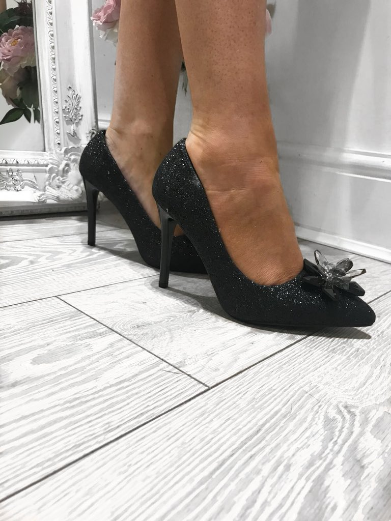 £10 Jimmie Noir Stiletto Heels