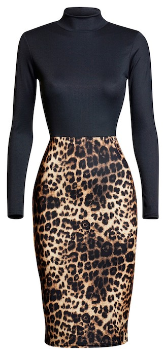 Celeb Inspired Leopard Print Bodycon