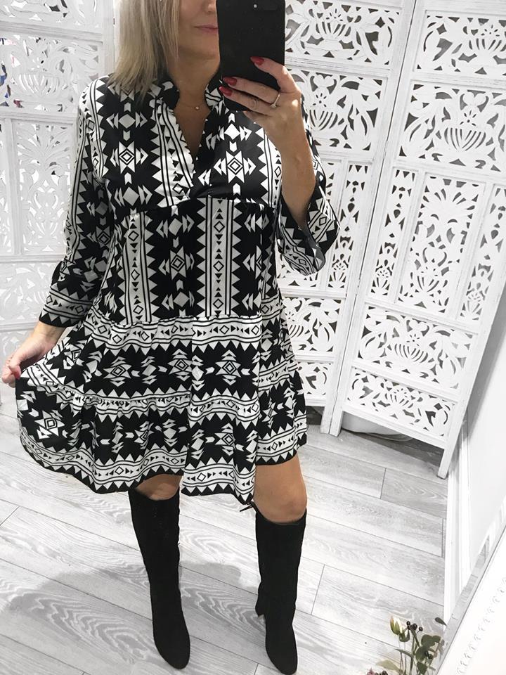 Aztec Smock Dress